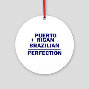 Brazilian + Puerto Rican Ornament (Round)