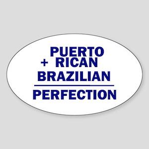 Brazilian + Puerto Rican Oval Sticker