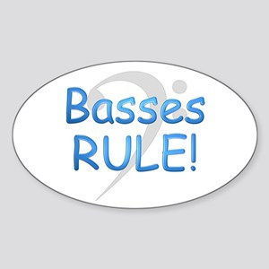 Basses Rule Oval Sticker