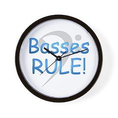 Basses Rule Wall Clock