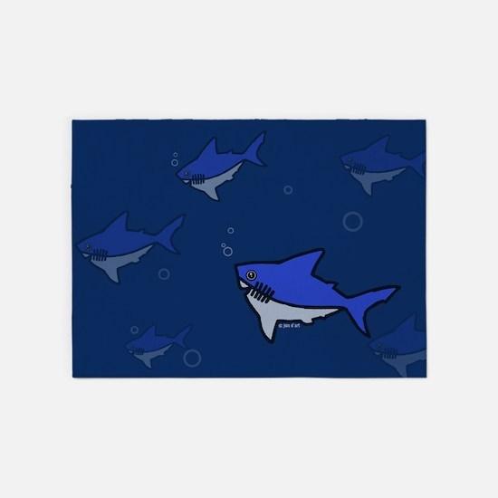 Shark 5'x7'area Rug