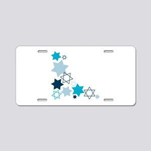 Star Of David Aluminum License Plate