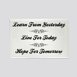 LEARN/LIVE/HOPE Rectangle Magnet