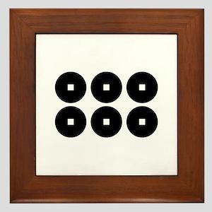 Six coins for the Sanada family Framed Tile