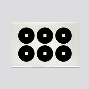Six coins for the Sanada family Rectangle Magnet