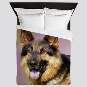 GSD Portrait Queen Duvet