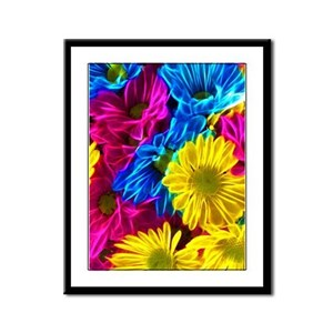 Colorful Daisies Framed Panel Print