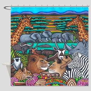 Shower Curtain With Safari Motif