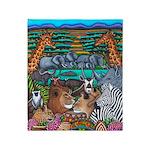 African Colours Safari Throw Blanket