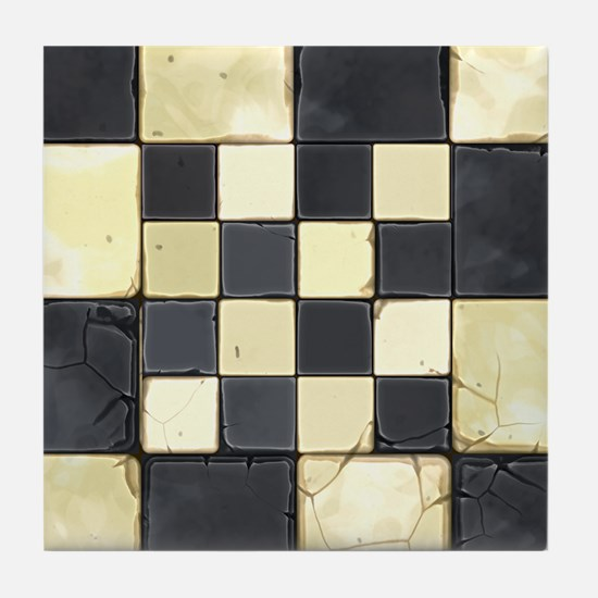 Cracked Tiles - Grey Tile Coaster