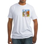 Rabbit Cartoon Carrot Fitted T-Shirt