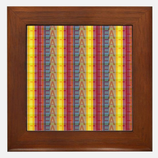 Multicolored Faith Framed Tile