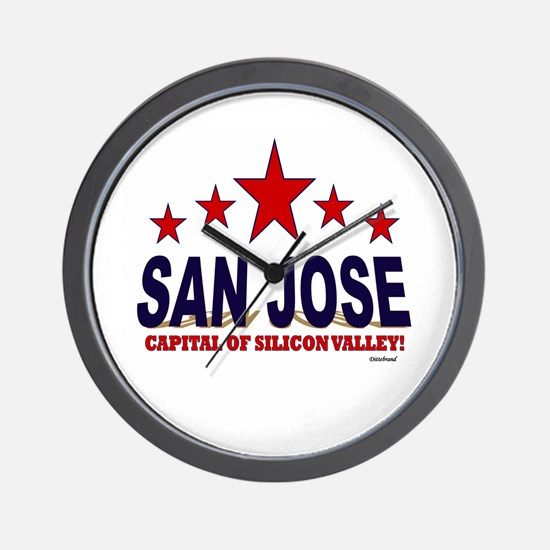 San Jose Capital Of Silicon Valley Wall Clock