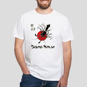 Squid Ninja White T-Shirt
