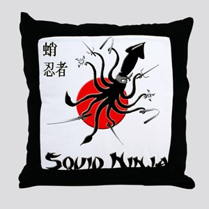 Squid Ninja Throw Pillow