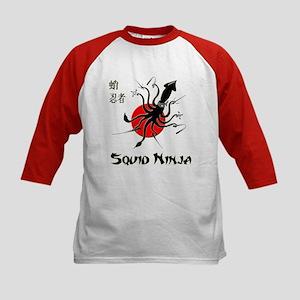 Squid Ninja Kids Baseball Jersey