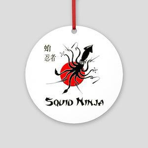 Squid Ninja Ornament (Round)