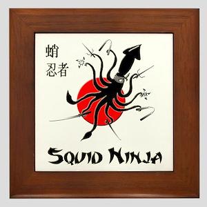 Squid Ninja Framed Tile