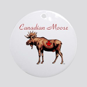 Canadian Moose Ornament (Round)