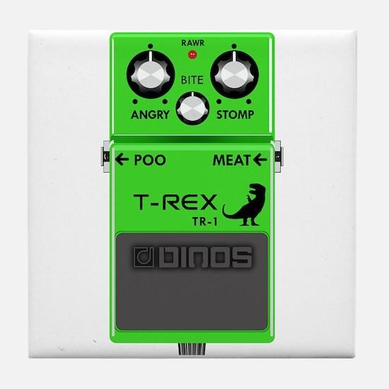 T-Rex Distortion Pedal Tile Coaster