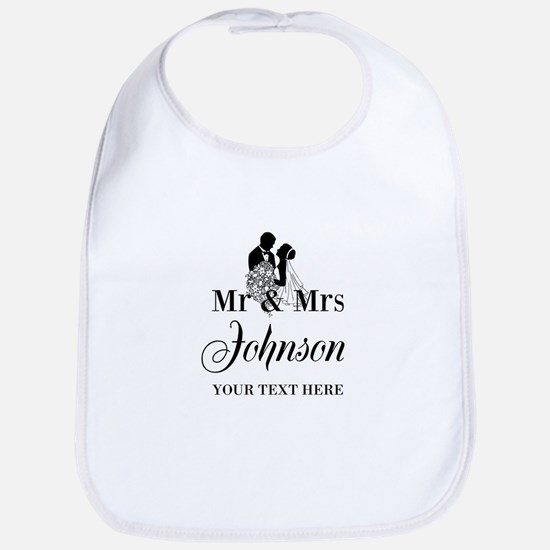 Personalized Mr and Mrs Bib