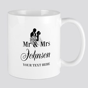 Personalized Mr And Mrs Mugs For Newlyweds