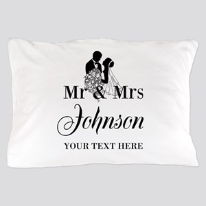 Personalized Mr And Mrs Pillow Case For Newly Weds