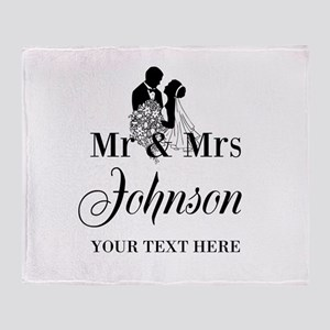 Personalized Mr and Mrs Throw Blanket
