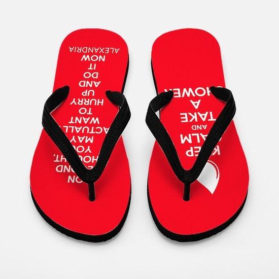 Keep Calm Shower Flip Flops