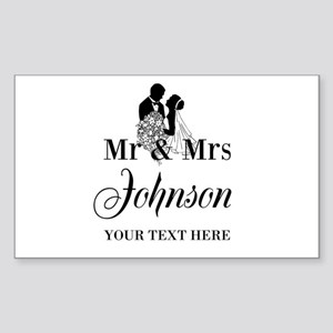 Personalized Mr and Mrs Sticker