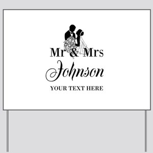 Personalized Mr And Mrs Yard Sign For Wedding