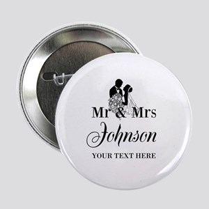 "Personalized Mr and Mrs 2.25"" Button"