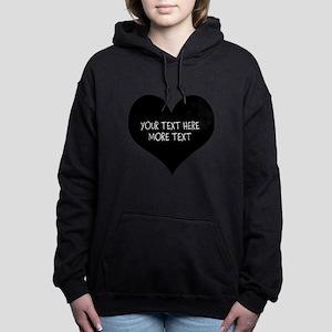 Black Heart Women's Hooded Sweatshirt