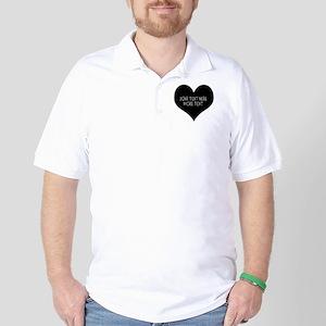 Black heart Golf Shirt
