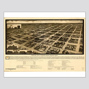 Vintage map of Amarillo,Texa Small Poster