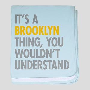 Brooklyn Thing baby blanket