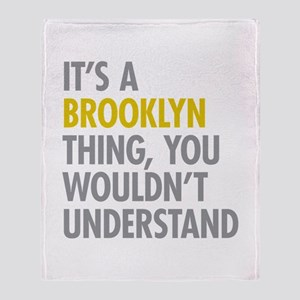 Brooklyn Thing Throw Blanket