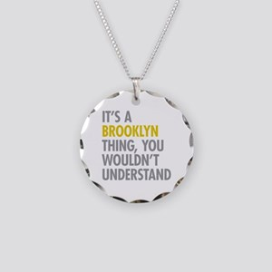 Brooklyn Thing Necklace Circle Charm