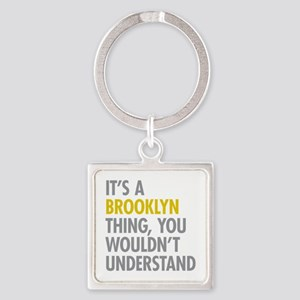 Brooklyn Thing Square Keychain