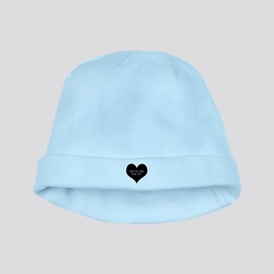 Black heart baby hat
