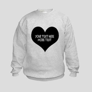 Black heart Sweatshirt