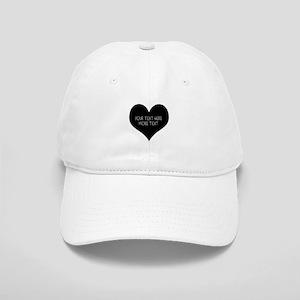 Black heart Baseball Cap