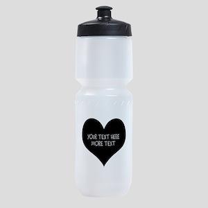 Black heart Sports Bottle