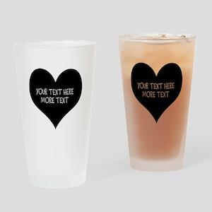 Black heart Drinking Glass