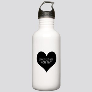 Black heart Water Bottle