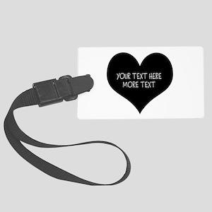 Black heart Luggage Tag