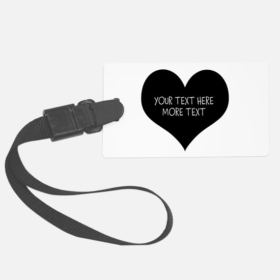 Black heart Luggage Tag