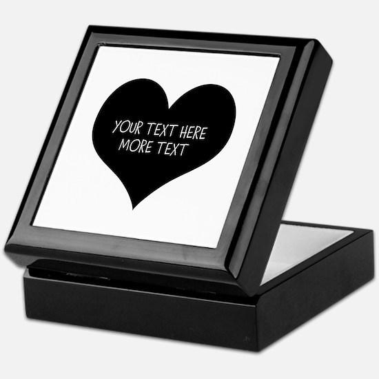 Black Heart Keepsake Box For Bride