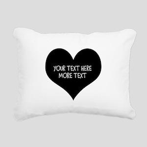 Black heart Rectangular Canvas Pillow