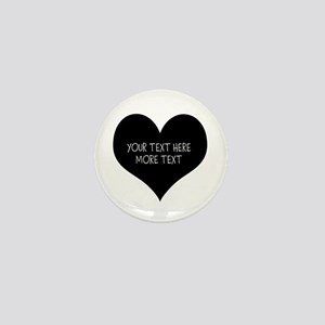 Black And White Heart Mini Button